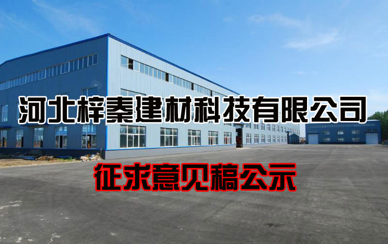 河北梓秦建材科技有限公司新建年产建筑级纤维素9000吨项目环境影响评价征求意见稿公示