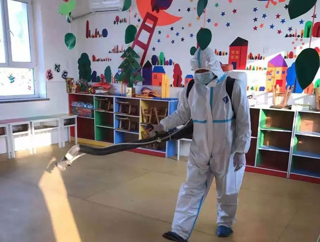 专业资质,专业队伍,专业药物:三安环境提供疫情期间消毒杀菌服务